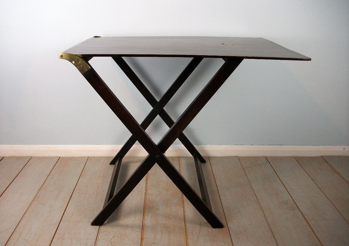 Late Georgian Mahogany Folding Campaign Table (1).JPG